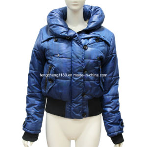 Fashion Design Short Woman′s Down Jacket (AH-0349) pictures & photos