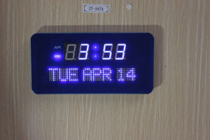 Purple Color Digital LED Night Light Clock (ZT-011AR-1) pictures & photos