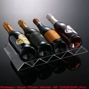 Eco-Friendly Free Standing Clear Acrylic Wine Rack pictures & photos