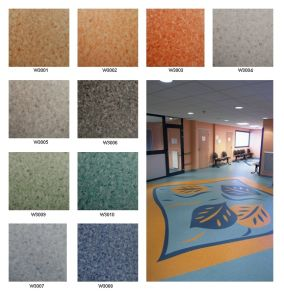 PVC flooring rolls ( commercial using) pictures & photos