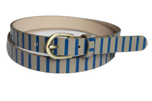 Fashion Skinny Belt for Women with Stripes