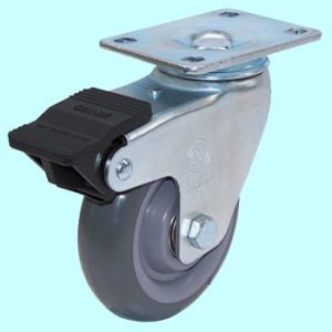 Round Trend Threaded Stem PU Caster pictures & photos
