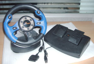 Video Game Accessories for PS2/Steering Wheel System for PS2 (STEERING WHEEL)