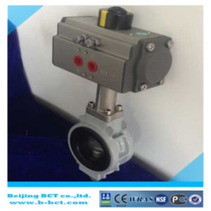 Aluminum Body Butterly Valve with Pneumatic Actuator JIS10k Bct-Alu-Bfv03 pictures & photos