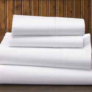 100%Cotton Plain Weave 300tc Hotel Flat Sheet (DPFB8008) pictures & photos
