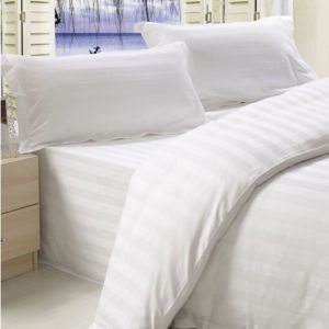 King Size Stripe Design Cotton Fabric Bed Sheet pictures & photos