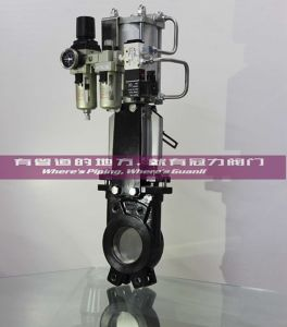 Soft Seat Knife Gate Valve with Cylinder pictures & photos