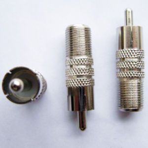 F/RCA Connector (RCA Male to F female) pictures & photos