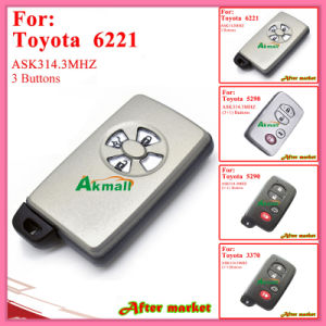 Smart Key for Toyota with 3buttons Fsk314.3MHz 6221 ID71 Wd01 Alphapreviasienna 2005 2008 Silver pictures & photos