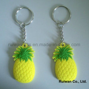 Soft Plastic Keyholder for Fruit Promotional Gifts, PVC Keychain Double Side pictures & photos