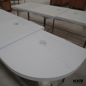 Acrylic Stone Triangle Sector Bathroom Shower Tray pictures & photos