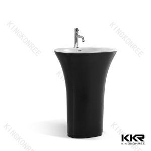 Kingkonree Solid Surface Freestanding Basin Sink (KKR-1588) pictures & photos