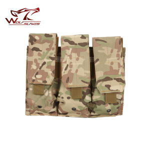 M4 Tactical Airsoft Molle Triple Magazine Pouch for Sale pictures & photos