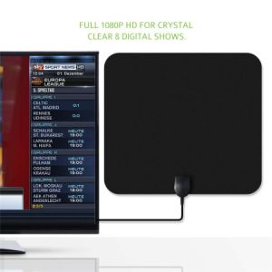75ohm Indoor HDTV 50 Miles Range Amplified Antenna with Detachable Signal Booster pictures & photos