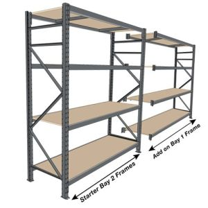 Warehouse Storage Medium Duty Metal Shelf with Steel Decking pictures & photos