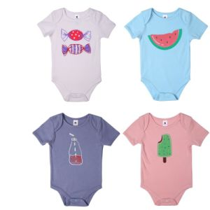 Wholesale Fashion New Design Bamboo Fiber Baby Bodysuit pictures & photos
