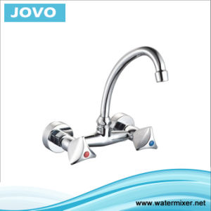 Sanitary Ware Double Handle Wall-Mounted Kitchen Mixer&Faucet Jv74608 pictures & photos