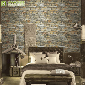 Best Selling Interior 3D Stone PVC Vinyl Wallpaper for Office / Hotel pictures & photos