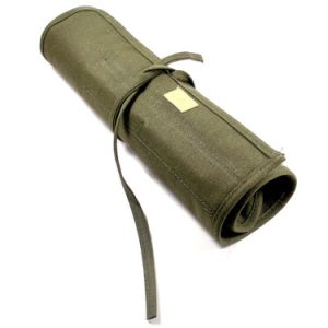 High Quality Army Green Canvas Pen Bag Brush Bag with 22 Loops pictures & photos