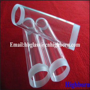 Screw Thread Silica Quartz Glass Tubing for Thermocouple pictures & photos