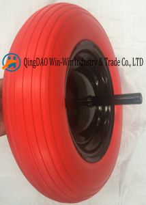 PU Wheels with Solid Axle 20X240mm (3.50-8) pictures & photos
