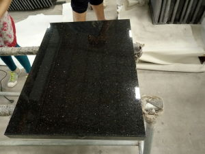 Black Galaxy Granite Countertop for Kitchen Top / Bathroom pictures & photos
