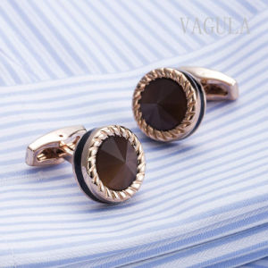 VAGULA Jewelry Plated Rose Gold Catseye Gemelos Cuff Links 52506 pictures & photos