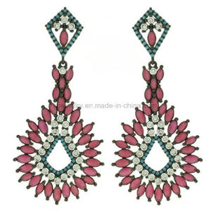 New Design Star Fashion Jewelry Plated Turquoise Eardrop (KE3268) pictures & photos