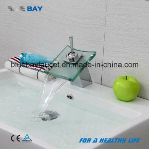 Wenzhou Bathroom Chrome Glass Waterfall Basin Mixer pictures & photos