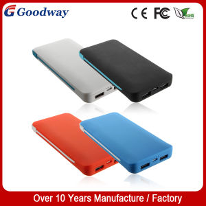 5000mAh Polymer Battery Manual Mobile Power Bank with Cable (GW-P806)