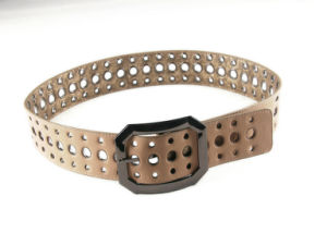 New Fashion Hollow Flower with Elastic PU Lady Belt pictures & photos