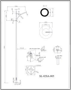 Outdoor Lighting Q345 S355 Steel Pole pictures & photos
