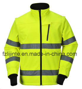 Protective Workwear High Visibility Safety Jacket with Reflective Tape pictures & photos