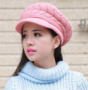 Lady Fashion Wool Acrylic Knitted Winter Warm Dress Cap (YKY3130) pictures & photos