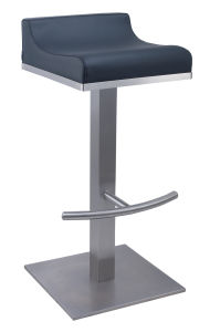 Square Base Low Back Stainless Steel Bar Stool pictures & photos