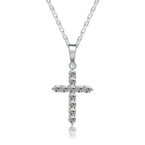 Top Sale China Factory Zircon Cross Pendant Christian Artificial Jewelry Necklace pictures & photos