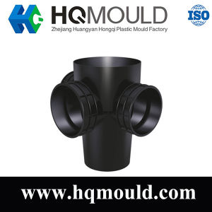Professional PE Cross Inspect Chamber Fitting Injection Mold pictures & photos