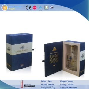 PU Leather Single Bottle Display Wine Box (6694) pictures & photos