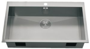 Topmount Single Bowl Handmade Stainless Steel Kitchen Sink - (S8651) pictures & photos