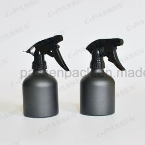 Matte Black Aluminum Cosmetic Bottle with Trigger Spray Pump (PPC-ACB-001) pictures & photos