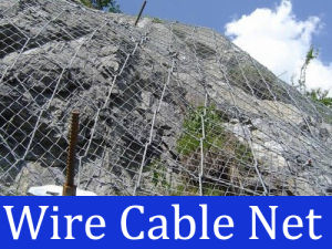 Rockfall Protection Wire Cable Net pictures & photos