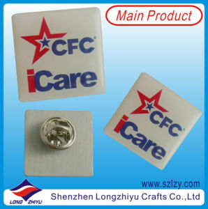 Custom Printing and Epoxy I Care Cap Badge Wholesale pictures & photos