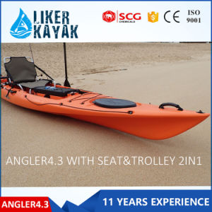 Polyethylene/Plastic Sale PRO Fishing Kayak pictures & photos