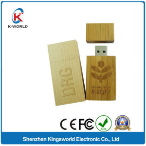 Popular Wood USB Stick with Logo Printing pictures & photos
