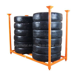"""92"""" X 40"""" TBR Truck Tire Stacked Storage Rack pictures & photos"""