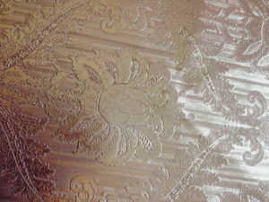 Shining Classical Flower Embossed PVC Leather for Decorate! pictures & photos