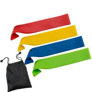 Eco Friendly Silicone Yoga Resistance Exercise Bands pictures & photos