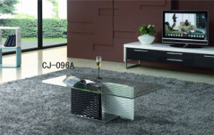 Rectangle Tempered Glass Coffee Table Glass Living Room Furniture (CJ-096A) pictures & photos