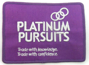3D Purple Bags &Suitcase Embroidery Badge (PB-30) pictures & photos