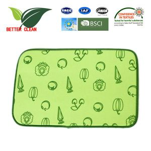 100% Polyster Dish Dry Mat for Kitchen